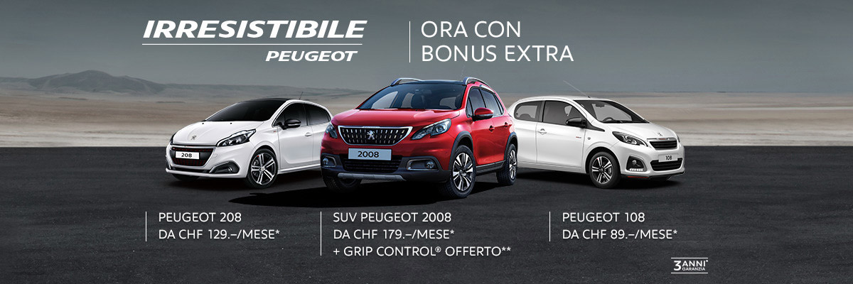 Offerte Peugeot inverno 2018
